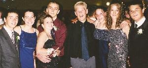 Tammy (third from the left), myself, and some of friends at our Sophomore Homecoming Dance in September 2001